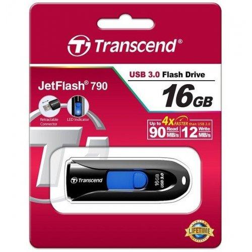 Фото Накопитель Transcend JetFlash 790 USB 3.0 16GB Black (TS16GJF790K)