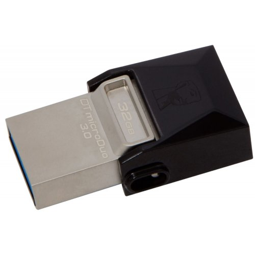 Фото Накопитель Kingston DataTraveler MicroDuo USB 3.0/MicroUSB 32GB Grey (DTDUO3/32GB)