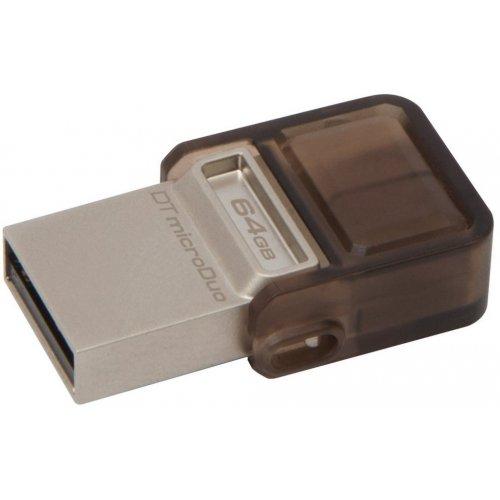 Фото Накопитель Kingston DataTraveler MicroDuo USB 2.0/MicroUSB 64GB Beige (DTDUO/64GB)