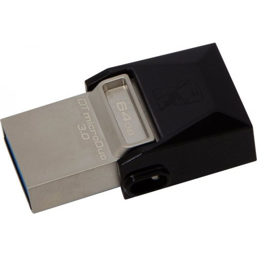 Фото Накопитель Kingston DataTraveler MicroDuo USB 3.0/MicroUSB 64GB Grey (DTDUO3/64GB)