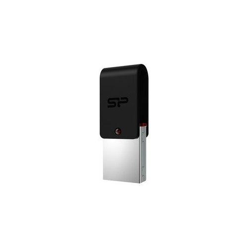 Фото Накопитель Silicon Power Mobile X31 USB 3.0/MicroUSB 64GB Black (SP064GBUF3X31V1K)
