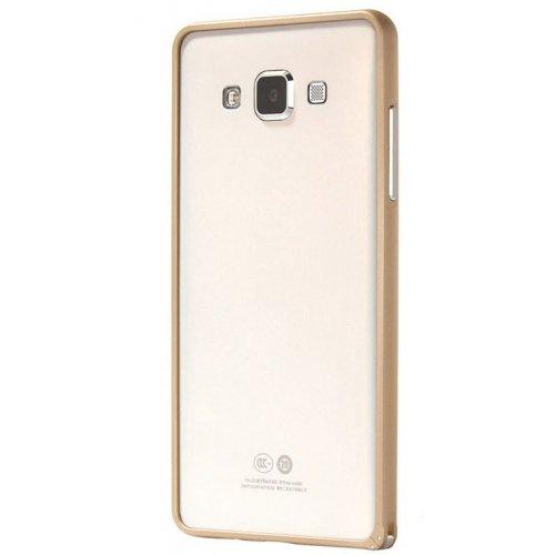 Фото Чехол Чехол Ultra Slim Metal Bumper для Samsung Galaxy A3/A300 Gold