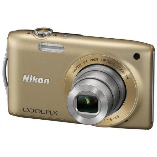 Фото Цифровые фотоаппараты Nikon Coolpix S3300 Gold