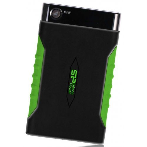 Фото Внешний HDD Silicon Power Armor A15 2TB (SP020TBPHDA15S3K) Black/Green