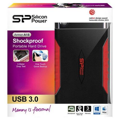 Фото Внешний HDD Silicon Power Armor A15 2TB (SP020TBPHDA15S3L) Black/Red
