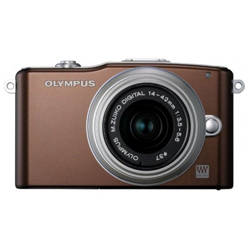 Фото Цифровые фотоаппараты Olympus Pen E-PM1 14-42 Kit Brown/Silver