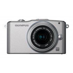 Фото Цифровые фотоаппараты Olympus Pen E-PM1 14-42 Kit Silver/Silver