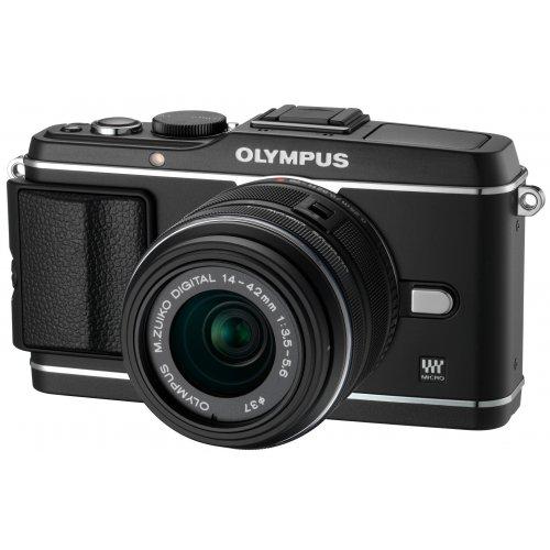 Фото Цифровые фотоаппараты Olympus Pen EP-3 14-42 Kit Black/Black