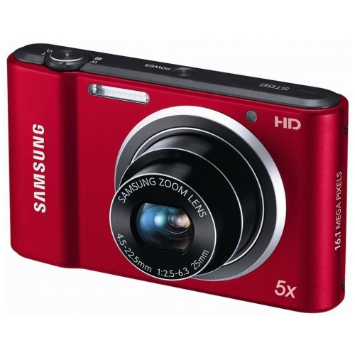 Фото Цифровые фотоаппараты Samsung ST66 Red