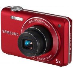 Фото Цифровые фотоаппараты Samsung ST93 Red