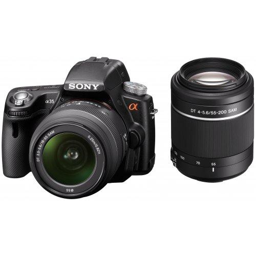 Фото Цифровые фотоаппараты Sony Alpha SLT-A35 18-55mm + 55-200mm Kit