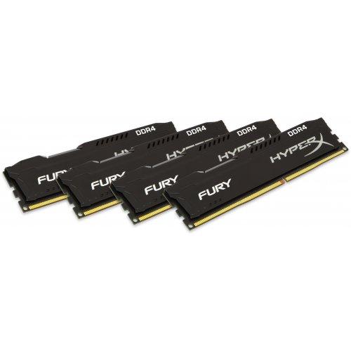 Фото ОЗУ HyperX DDR4 16GB (4x4GB) 2400MHz FURY Black (HX424C15FBK4/16)