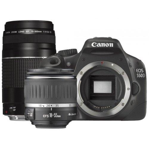 Фото Цифровые фотоаппараты Canon EOS 550D 18-55 DC + 75-300 DC Kit