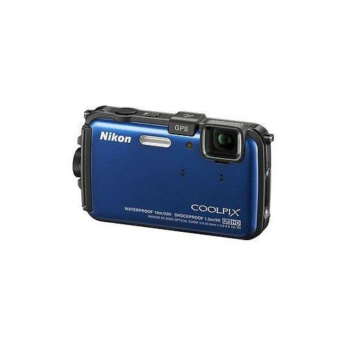 Фото Цифровые фотоаппараты Nikon Coolpix AW100 Blue
