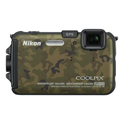 Фото Цифровые фотоаппараты Nikon Coolpix AW100 Camouflage