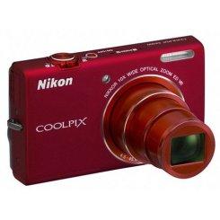 Фото Цифровые фотоаппараты Nikon Coolpix S6200 Red