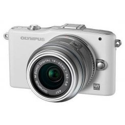 Фото Цифровые фотоаппараты Olympus Pen E-PM1 14-42 Kit White/Silver
