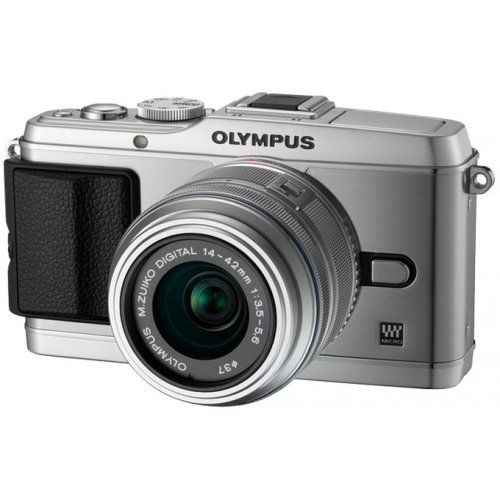Фото Цифровые фотоаппараты Olympus Pen EP-3 14-42 Kit Silver/Silver