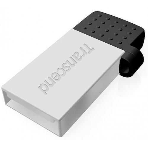 Фото Накопитель Transcend JetFlash 380 USB 2.0/MicroUSB 64GB Silver Plating (TS64GJF380S)