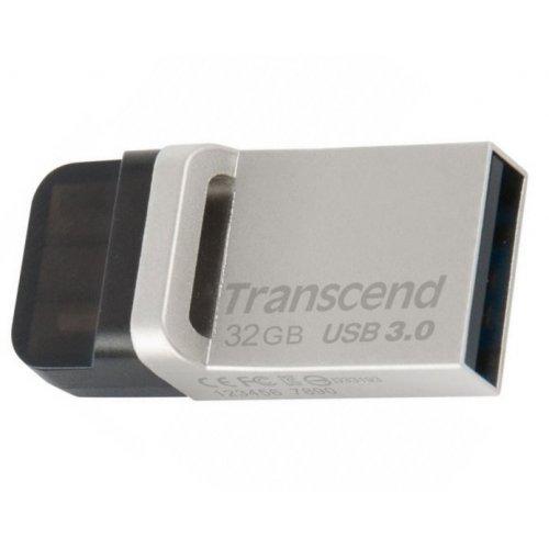 Фото Накопитель Transcend JetFlash 880 USB 3.0/MicroUSB 32GB Metallic (TS32GJF880S)