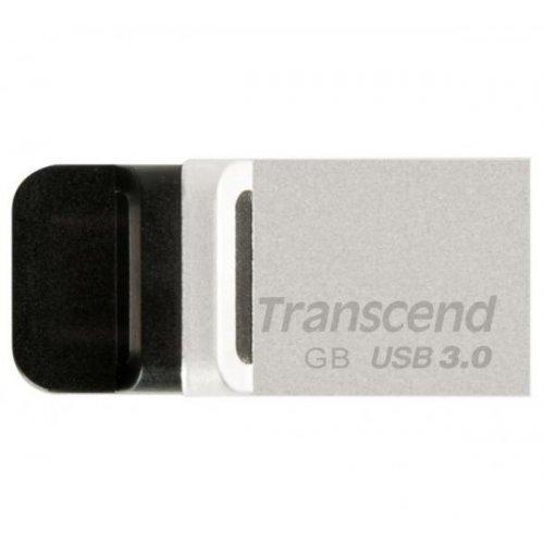 Фото Накопитель Transcend JetFlash 880 USB 3.0/MicroUSB 64GB Metallic (TS64GJF880S)
