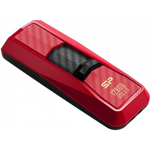 Фото Накопитель Silicon Power Blaze B50 USB 3.0 128GB Red (SP128GBUF3B50V1R)