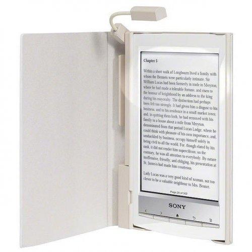 Фото Чехол Обложка Sony PRSA-CL10/WC с подсветкой для Sony PRS-T1 White