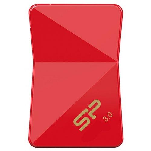 Фото Накопитель Silicon Power Jewel J08 USB 3.0 64GB Red (SP064GBUF3J08V1R)