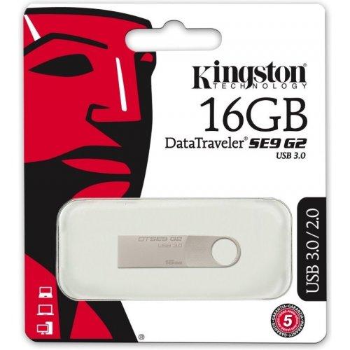 Фото Накопитель Kingston DataTraveler SE9G2 USB 3.0 16GB Silver (DTSE9G2/16GB)