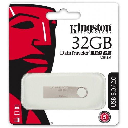 Фото Накопитель Kingston DataTraveler SE9G2 USB 3.0 32GB Silver (DTSE9G2/32GB)