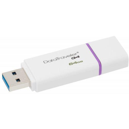 Фото Накопитель Kingston DataTraveler G4 USB 3.0 64GB Purple (DTIG4/64GB)
