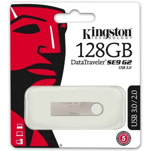 Фото Накопитель Kingston DataTraveler SE9G2 USB 3.0 128GB Silver (DTSE9G2/128GB)