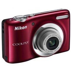 Фото Цифровые фотоаппараты Nikon Coolpix L25 Red