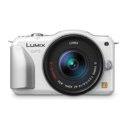 Фото Цифровые фотоаппараты Panasonic Lumix DMC-GF5K 14-42 Kit White