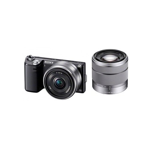Фото Цифровые фотоаппараты Sony Alpha NEX-5ND 16mm + 18-55mm Kit Black