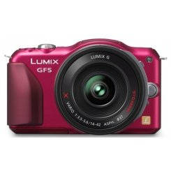 Фото Цифровые фотоаппараты Panasonic Lumix DMC-GF5X 14-42 Kit Red