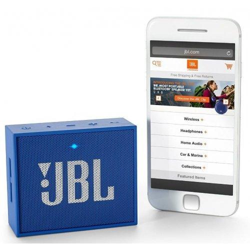 Фото Портативная акустика JBL GO (JBLGOBLUE) Blue