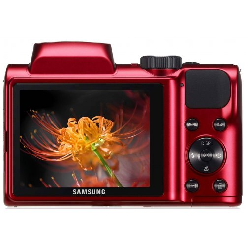 Фото Цифровые фотоаппараты Samsung WB100 Red