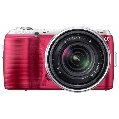 Фото Цифровые фотоаппараты Sony Alpha NEX-C3D 16mm + 18-55mm Kit Pink