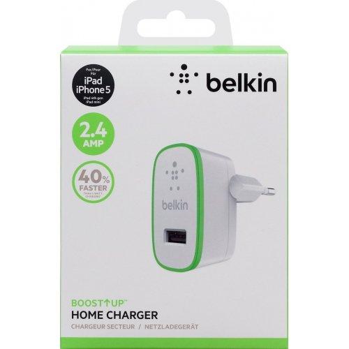 Фото Сетевое зарядное устройство Belkin BOOST UP Home Charger 2.4A (F8J040vfWHT) White