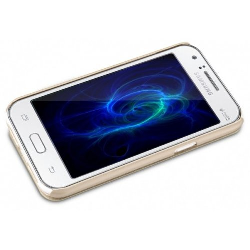 Фото Чехол Чехол Nillkin Sparkle Series для Samsung Galaxy J1 Ace J110 Gold