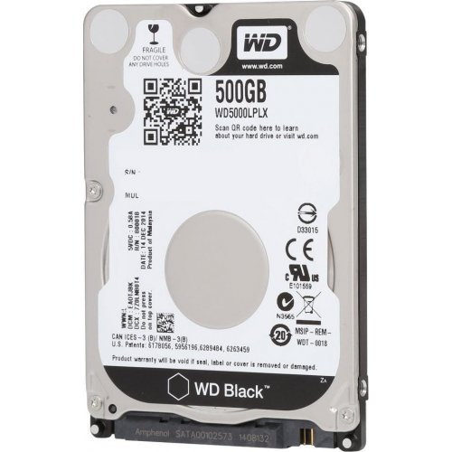 Фото Жесткий диск Western Digital Black 500GB 32MB 2.5