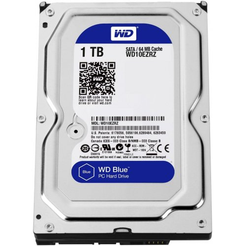 "Фото Жесткий диск Western Digital Blue 1TB 64MB 3.5"" (WD10EZRZ)"