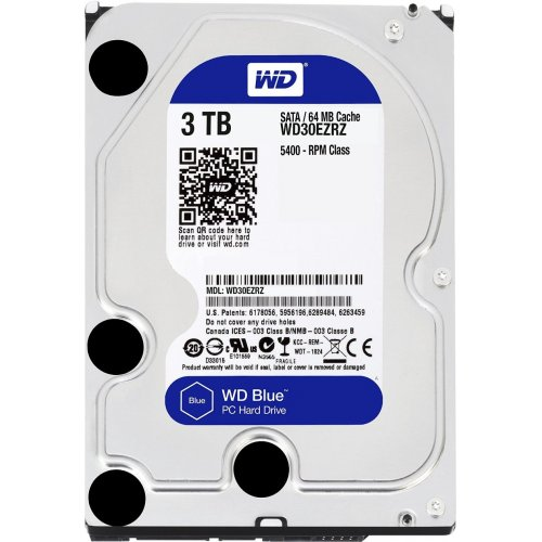 "Фото Жесткий диск Western Digital Blue 3TB 64MB 3.5"" (WD30EZRZ)"