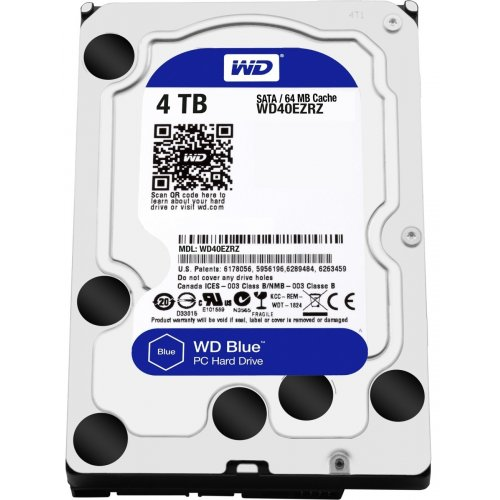 "Фото Жесткий диск Western Digital Blue 4TB 64MB 3.5"" (WD40EZRZ)"