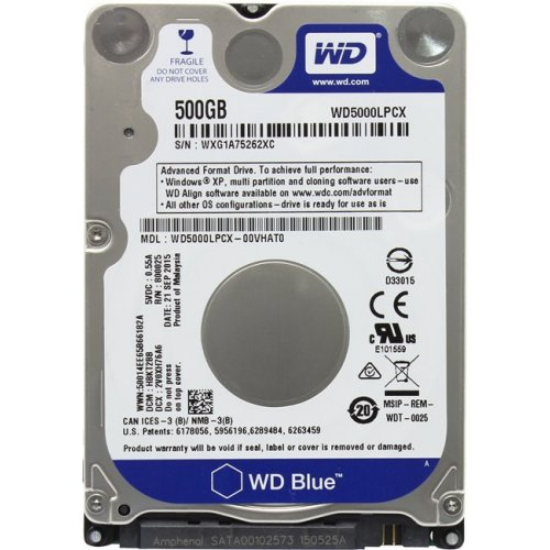 Фото Жесткий диск Western Digital Blue 500GB 16MB 2.5