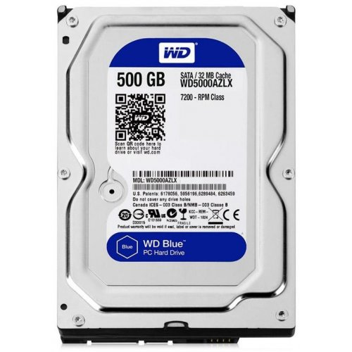 Фото Жесткий диск Western Digital Blue 500GB 32MB 3.5