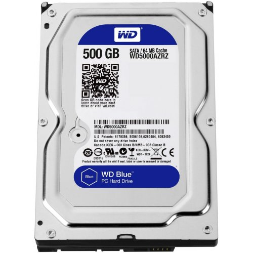 Фото Жесткий диск Western Digital Blue 500GB 64MB 3.5
