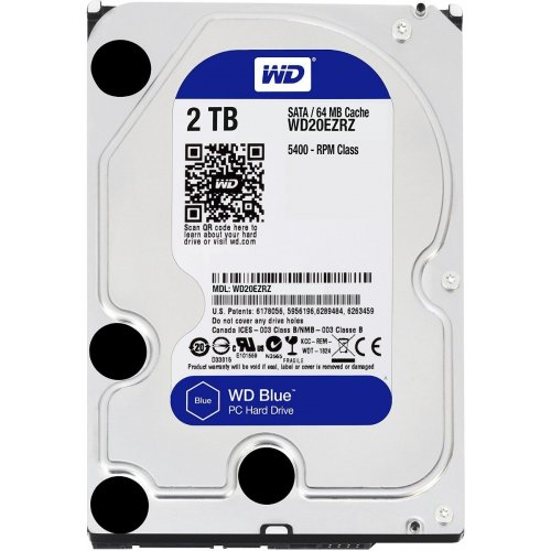 "Фото Жесткий диск Western Digital Blue 2TB 64MB 3.5"" (WD20EZRZ)"