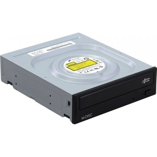 Фото Оптический привод LG-Hitachi SATA DVD±R/RW 24x (GH24NSD0) Black